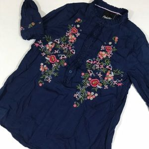 Nanette By Nanette Lepore embroidered shirt
